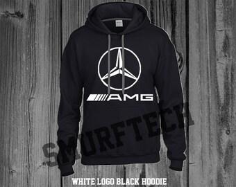 Mercedes-Benz AMG STAR Adult Pullover Hooded Sweater / Sweatshirt (Hoodie) - Merc, Benz, Cla, C-Class, C63, E63, E-Class, B-Class)