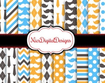Buy 2 Get 1 Free-20 Digital Papers. Fathers Day Papers 1 (2L no 2) for Personal Use and Small Commercial Use Scrapbooking
