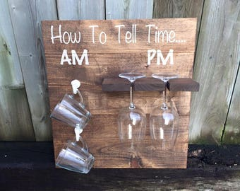 Rustic How To Tell Time; AM/PM
