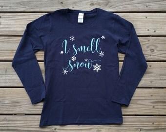I Smell Snow women's long sleeve shirt