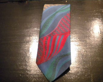 Men's tie necktie ties selection petrol-blue red orange green men accessories vintage silk viscose-other