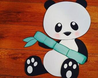 Panda Bear Baby Shower decorations Big 16 inch Panda Baby Sign
