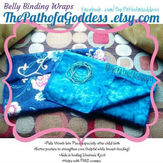 Belly Binding Wrap Postpartum Menstrual Womb Holistic