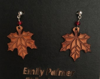 Maple Leaves with Beads