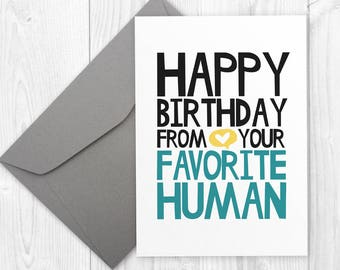 Birthday Card for Boyfriend - Printable Happy Birthday card for friend  - Favorite Human - Birthday Card for Husband - card for him