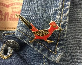 Vintage Red Road Runner Pin