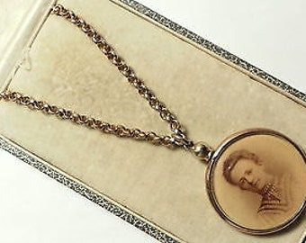 Antique Victorian Double Sided Picture Locket/Pendant