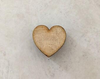 1 inch Pinyon Pine Wood Heart