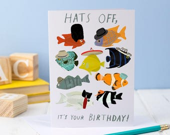 Hats Off Birthday Card