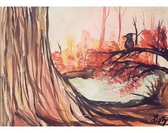 Autum trees painting
