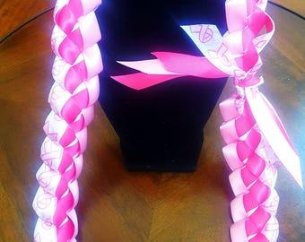 Breast Cancer Awareness Ribbon Lei
