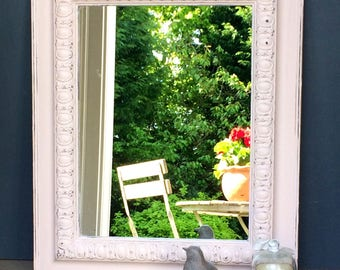 Gorgeous Vintage Painted Wooden Mirror