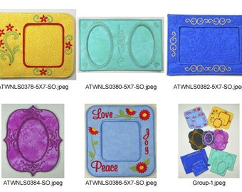 Delicate-Frames. ( 5 Machine Embroidery Designs from ATW )