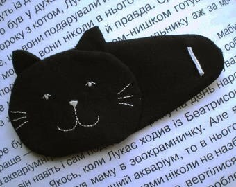 "Black Cat Eye Patch for ""lazy"" eye (amblyopia)"