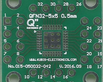 "QFN32-5x5 0.50mm(0.02"") to 4 x IDC2x4 connector."