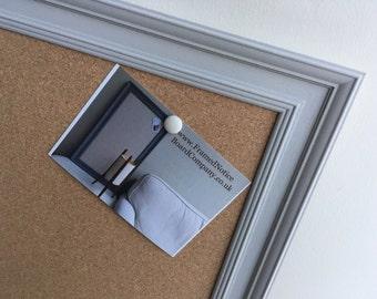 large cork pin board cork bulletin board cork memo board cork message board grey pin board grey framed cork board framed notice board