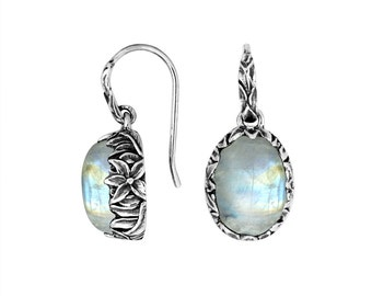 moonstone sterling silver earring