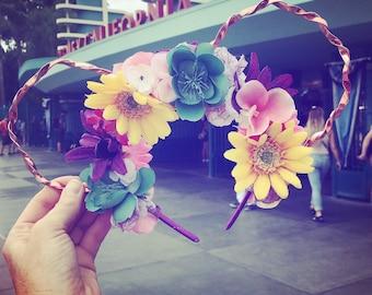 Rapunzel inspired floral ears