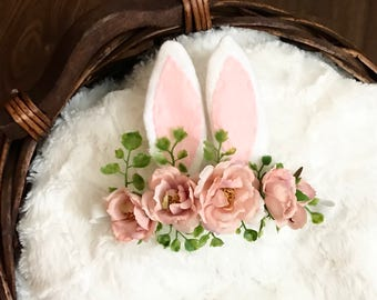 Easter bunny flower crown
