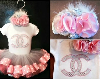 Pretty in pink tutu outfit, Tutu, Baby tutu, Birthday tutu, Baby clothes, Couture outfits, Baby, Ribbon tutu, Vintage outfits, Take home