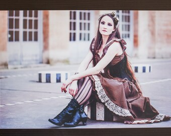 "Photography alternative steampunk ""Copper coloured girl"" - Format A4 20x30cms - Namidael photographs"