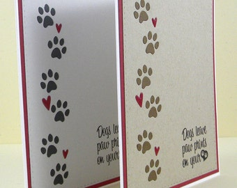 Dog Sympathy Card, Pet Sympathy Card, Handmade Dog Sympathy, Loss of Dog Card, Pet Loss
