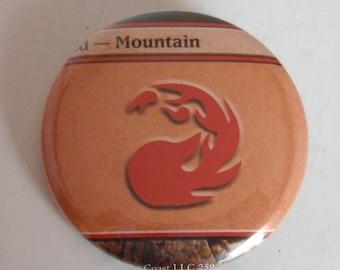 "1.5"" Magic the Gathering Mana Mountain Button"