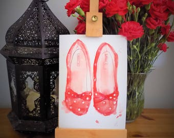 A5 shoes greetings card