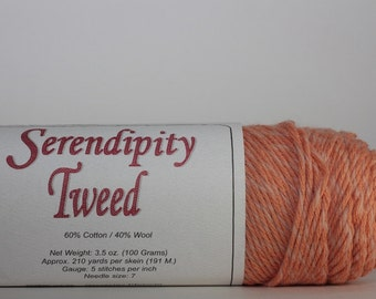 Brown Sheep Serendipity Tweed, color Nectarine Blossom ST86   melon