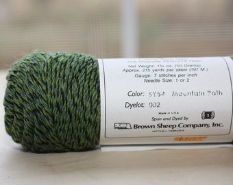 Wildfoote yarn, color SY54, lot 002     Mountain Path