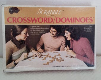 Vintage Scrabble Crossword/Dominoes Board Game, Vintage Board Game, Vintage Scrabble Game