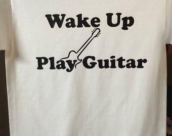 Guitar lovers tee - Wake up Play Guitar