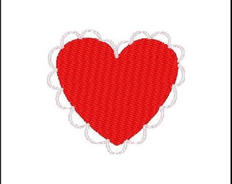 Fill Embroidery Design, Heart Lace, Pattern, File, Digital, Download, Machine