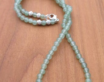 Fine Aventurine Necklace with 925 Silver