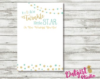 Twinkle Twinkle Little Star Baby Shower Thank You - Neutral/Boy/Girl/ PINK, MINT, BLUE