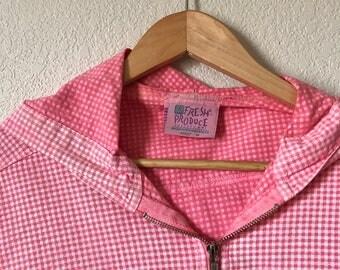 Vintage Pink Gingham Lightweight Jacket