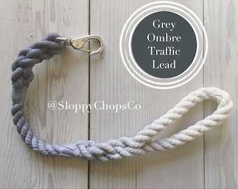 Hand-dyed Traffic Lead, Short Dog Leash, Ombre, Handmade