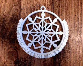 Personalised 3D Printed Christmas Decoration - First Christmas!