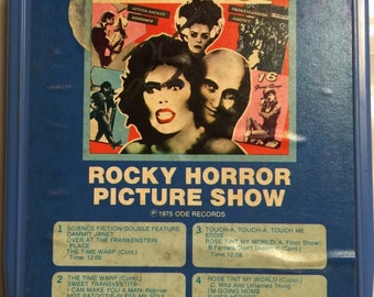 Rocky Horror Picture Show Movie Soundtrack 8 Track Cassette The Time Warp Dance production TV Show Play