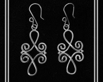 Sterling Silver, medium, dangle earrings