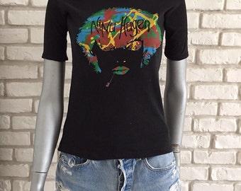 Extremely rare vintage early 80's punk rock Nina Hagen woman t shirt