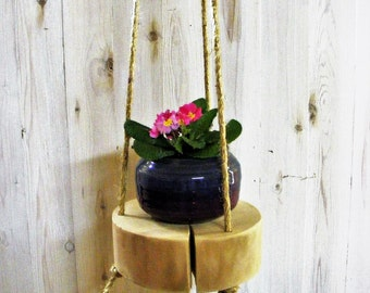 Hanging Plant Holder, Rustic Hanging Plant Stand, Reclaimed Wood, Wooden Hanging Plant Holder