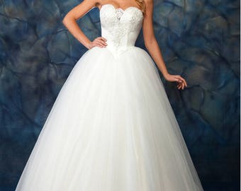 Wedding Dress/ Princess Corset Sweetheart Neckline Bridal Dress