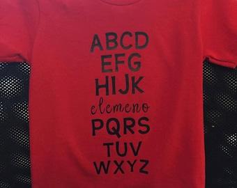 Youth Elemeno ABC's Shirt