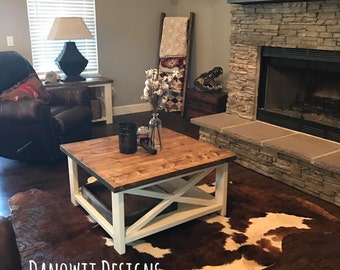 Rustic X Coffee Table (Local Pick up/Delivery Only!)