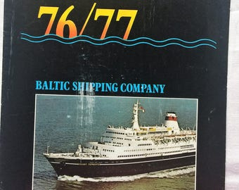 USSR Baltic Shipping Company Soviet cruise advertising programme of 1976-1977