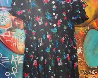 Vintage Leslie Fay Collections Vintage floral prInt dress Size 10