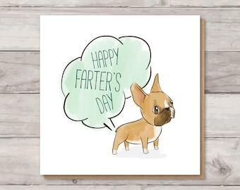 French Bulldog Father's Day Card - Happy Farter's Day