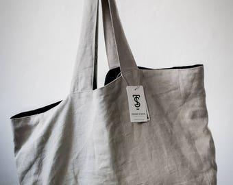 Linen Tyvek Bag, Tote Bag, Shoulder Linen Bag, Linen Tote Bag, Large Linen Bag, natural Linen Bag, Tyvek Bag, Eco friendly Handmade bag,