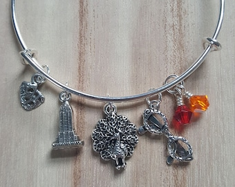 Liz Lemon Inspired Bracelet, 30 Rock Bracelet, Television Comedy Jewelry, Gifts For Her, Free Shipping